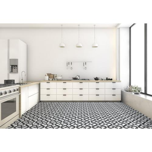 Craft Black And White Matte Porcelain Tile 8 X 8 100585462 Floor And Decor