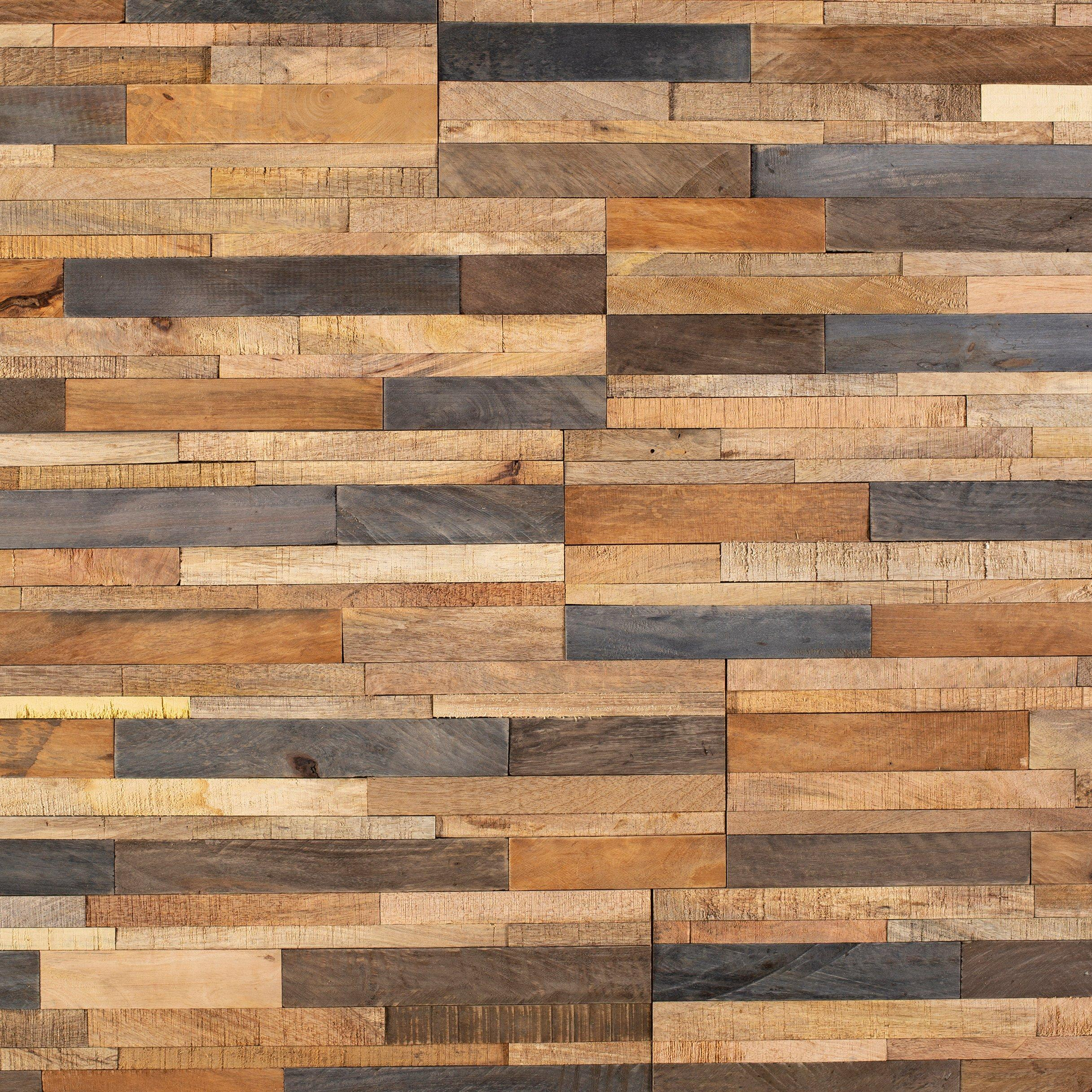 Tropical Mix Peel And Stick Reclaimed Wood Wall Panel 6 X 24