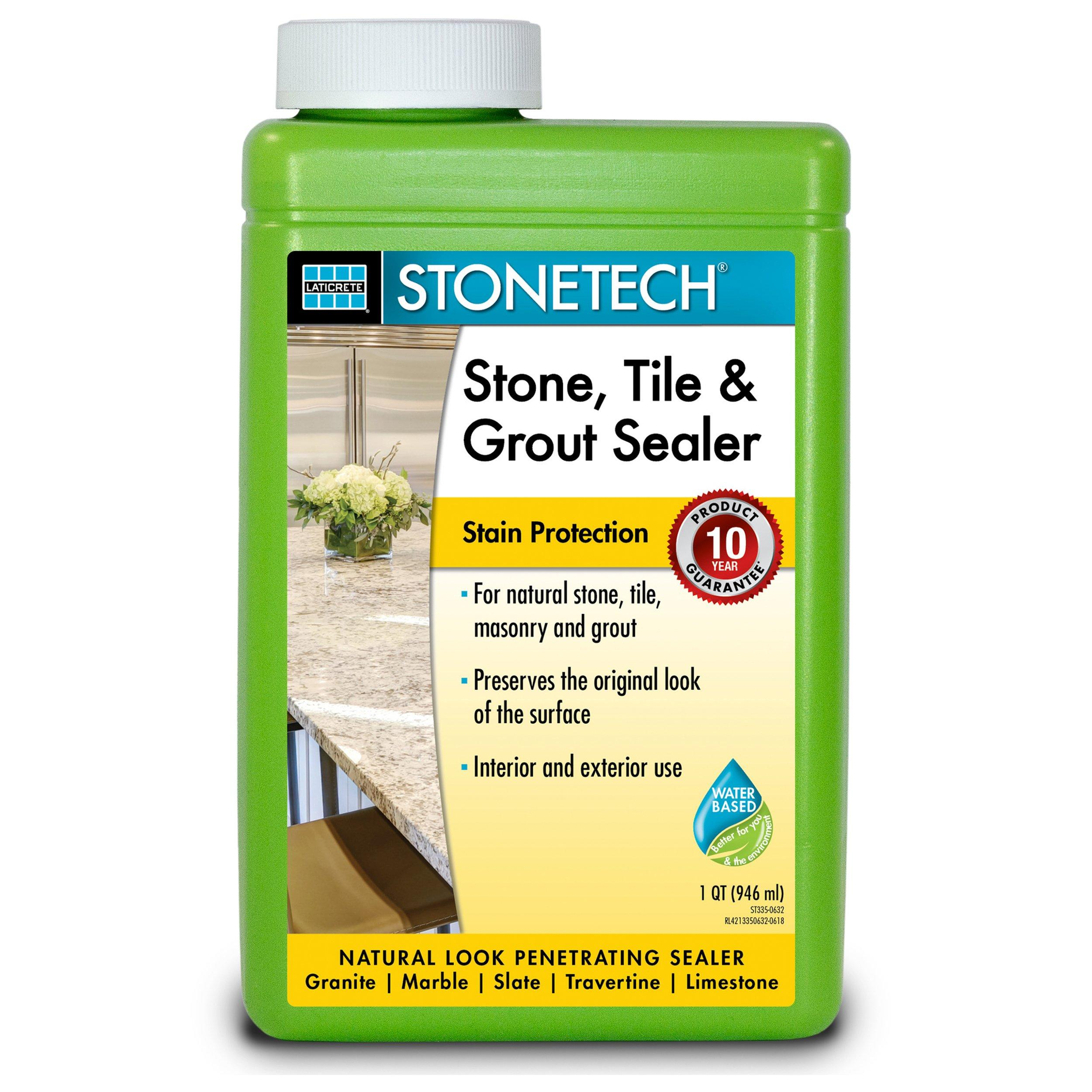 - Laticrete Stonetech Stone Tile And Grout Sealer - 1qt. - 100602671