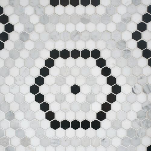 Cafe Du Monet Hexagon Polished Marble Mosaic 13 X 13 100609635 Floor And Decor