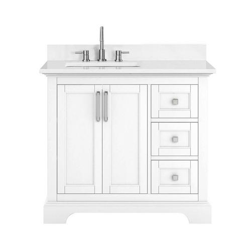 Paxton 37 In White Vanity With Engineered Top 37in 100875756 Floor And Decor