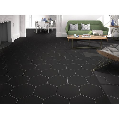 Opal Black Porcelain Tile 11 X 13 100888619 Floor And Decor