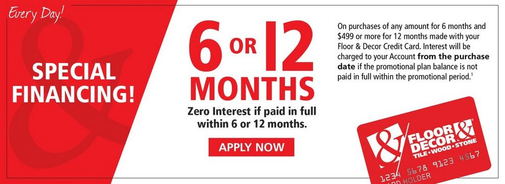 12 Month Special Financing