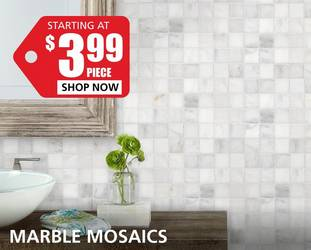 Marble Mosaics starting at $3.99 per piece