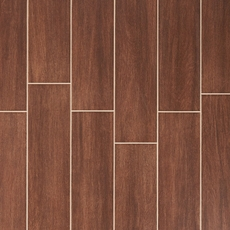 Shenandoah Brown White Body Wood Plank Ceramic Tile