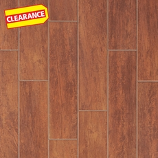 Clearance! Bangor Cherry White Body Wood Plank Ceramic Tile