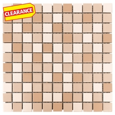 Clearance! Beige Multi Shade Porcelain Mosaic
