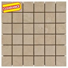 Clearance! Seville Ivory Porcelain Mosaic
