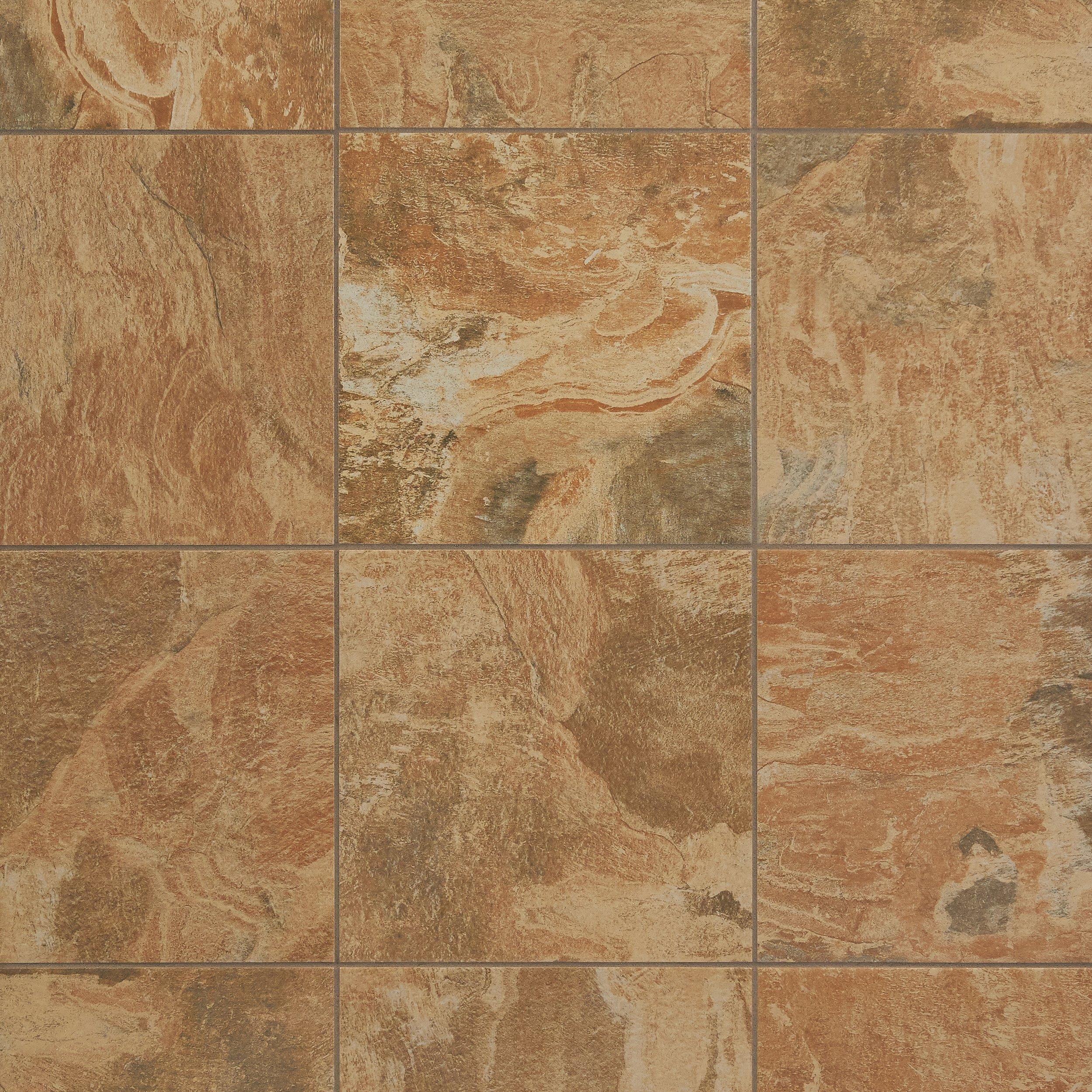 Spanish Steps Rust Porcelain Tile 12 x 12 912101431 Floor and