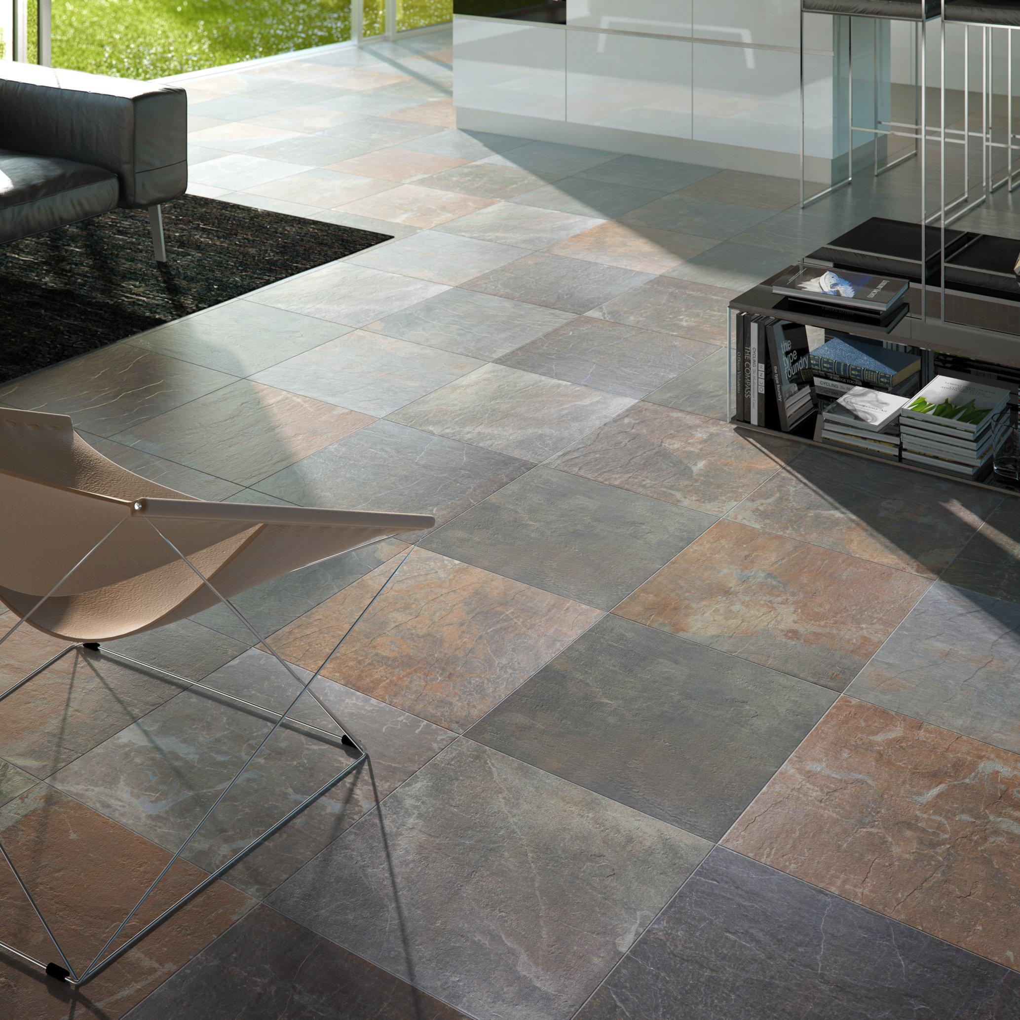 ... Outdoor 6: Slate Multicolor Porcelain In In Patio Floor Outdoor Room ...