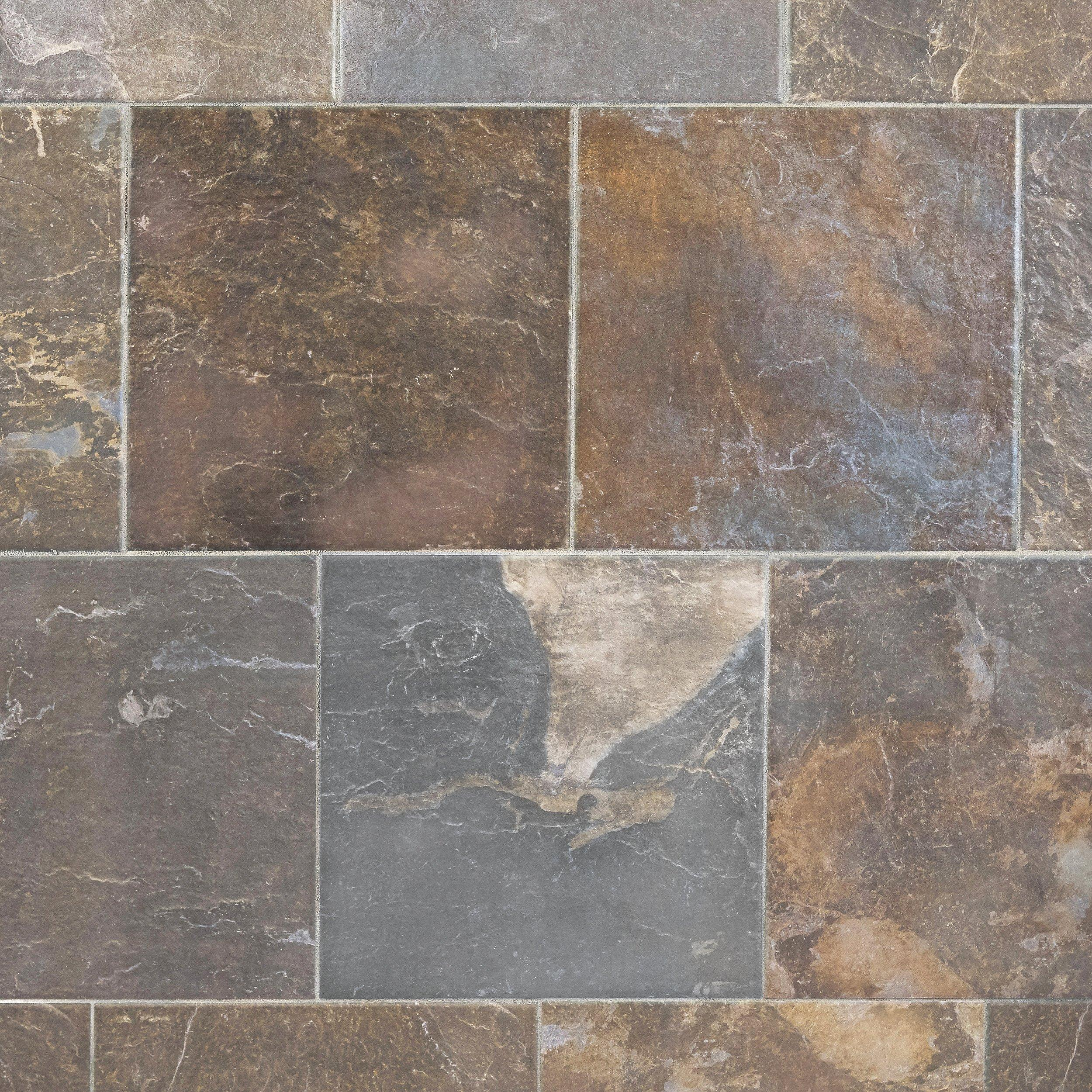 Slate Multicolor Porcelain Tile   13in. X 13in.   912102002 | Floor And  Decor