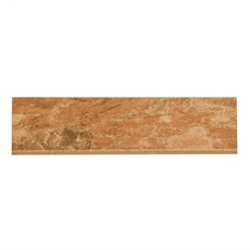 Spanish Steps Rust Porcelain Bullnose