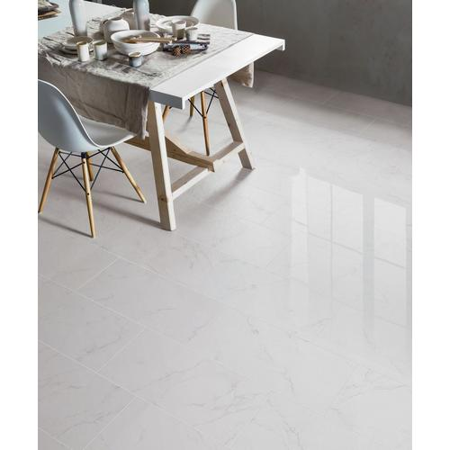 Carrara Polished Porcelain Tile X Floor And Decor - Best place to buy porcelain tile