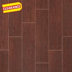 Clearance! Santa Rosa Mocha Wood Plank Porcelain Tile