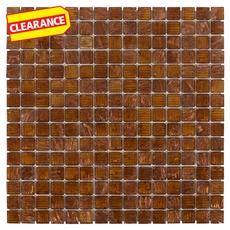Clearance! Art Copper Mix Glass Mosaic