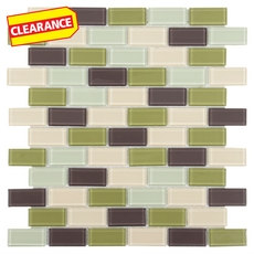 Clearance! Catania Brick Glass Mosaic