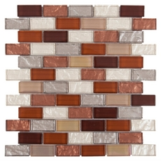 Agrigento Brick Glass Mosaic