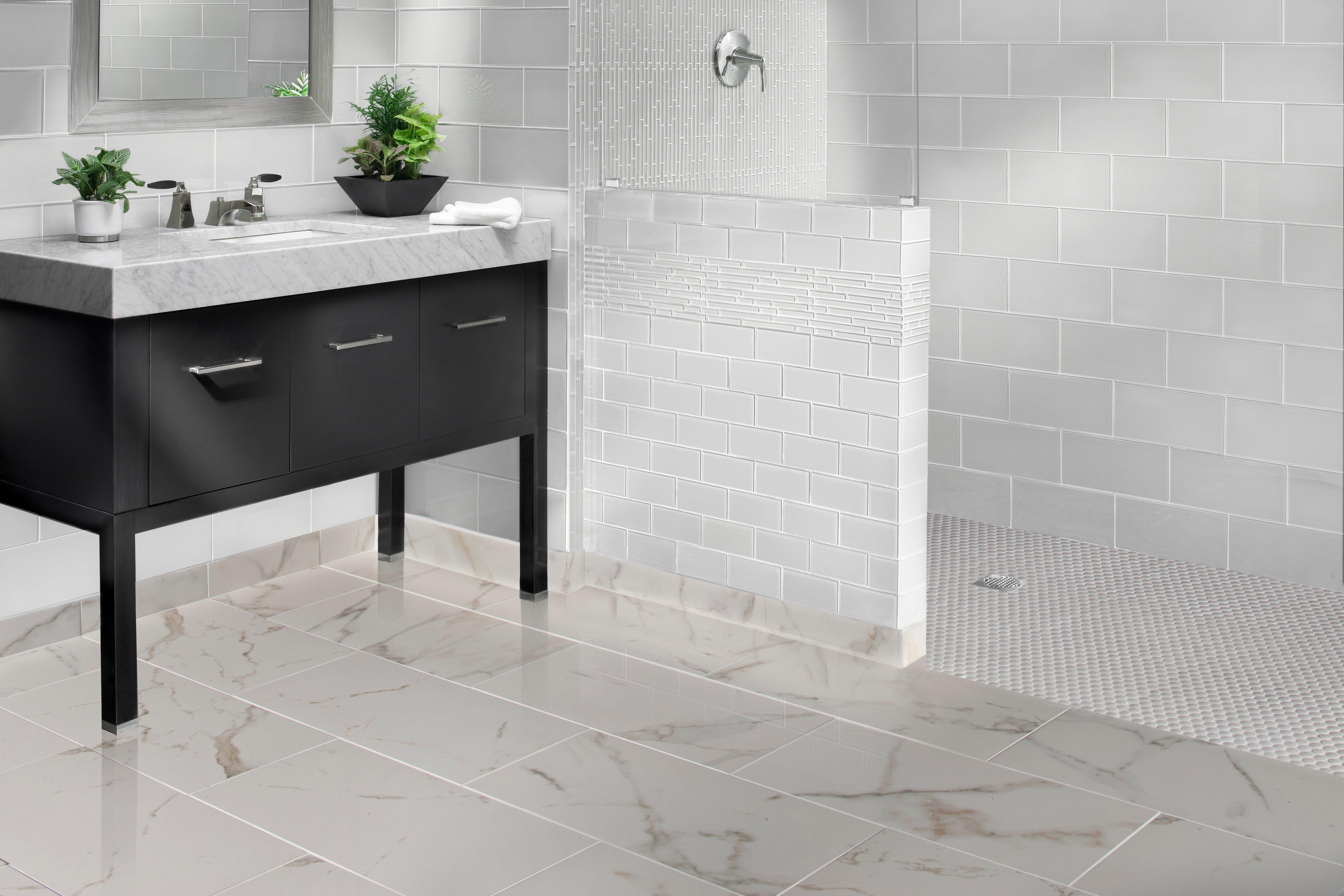 Modern Glass Floor Tiles Bathroom Frieze - Bathroom Design Ideas ...