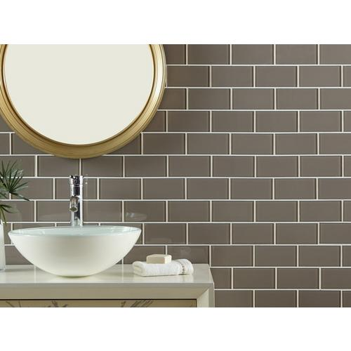 Wool Glass Tile - 3 x 6 - 913102048   Floor and Decor