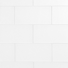 Pure Snow White Shiny Glass Tile