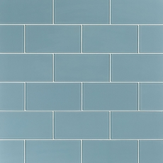 Pure Spa Blue Shiny Glass Tile