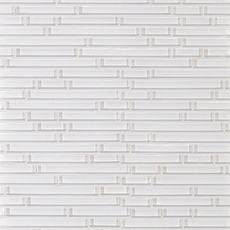 Pure Snow White Shiny Stick Glass Mosaic
