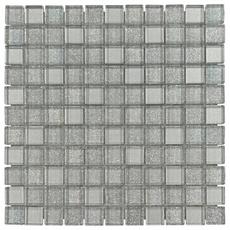 Shiny Gray Mix Glass Mosaic