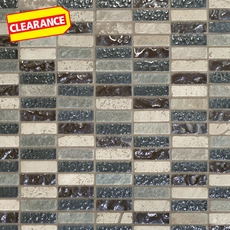 Clearance! Aragon Mixed Glass and Stone Mosaic