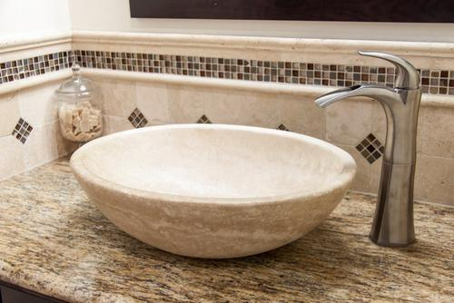 Bathroom Sinks Regina villa regina glass mosaic - .67in. x .67in. - 913102507   floor