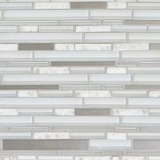 Montage Norwegian White Stone Linear Polished Glass Mosaic