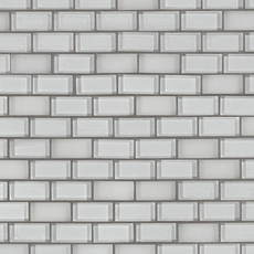 Pure Snow Mix Brick Glass Mosaic