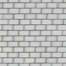 Pure Snow Mix Brick Glass Mosaic
