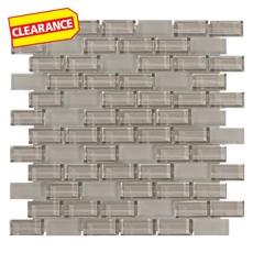 Clearance! Pure Wool Mix Brick Glass Mosaic