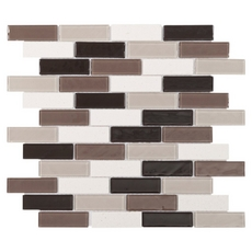 Stone Henge Modern Brick Glass Mosaic