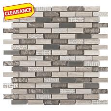 Clearance! Vaua Brick Glass Mosaic
