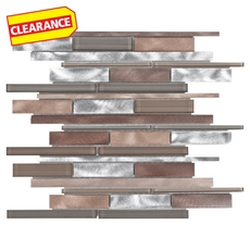 Clearance! Metallico West Stick Metal and Glass Mosaic