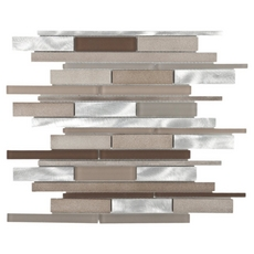 Metallico Earth Stick Metal and Glass Mosaic