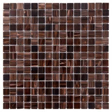 Brown Mix Glass Mosaic