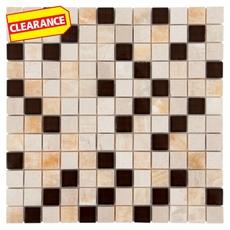 Clearance! Mallorica Mix Glass and Stone Mosaic