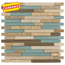 Clearance! Santiago Mix Stick Glass and Stone Mosaic
