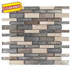 Clearance! Walkiku Linear Glass Mosaic
