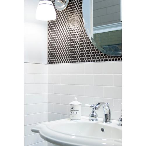 Bright White Ice Subway Ceramic Wall Tile X - 6x8 white wall tile