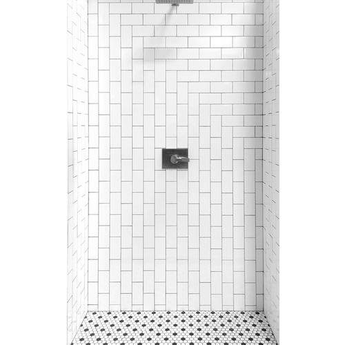 White and Black Hexagon II Porcelain Mosaic - 10 x 12 - 100104694 ...