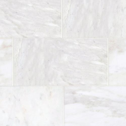 Carrara White Polished Marble Tile - 12in. x 24in. - 921100409 | Floor and  Decor