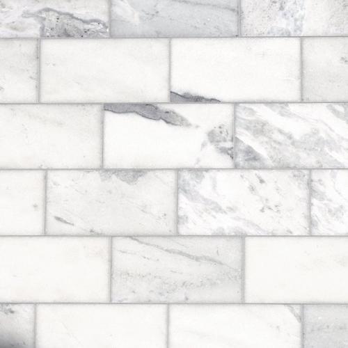 Sahara Carrara Marble Tile - 6 x 12 - 921100669   Floor and