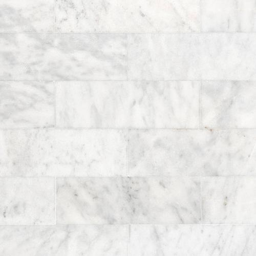 Carrara Milano Polished Marble Tile 6 X 18 921100748 Floor And