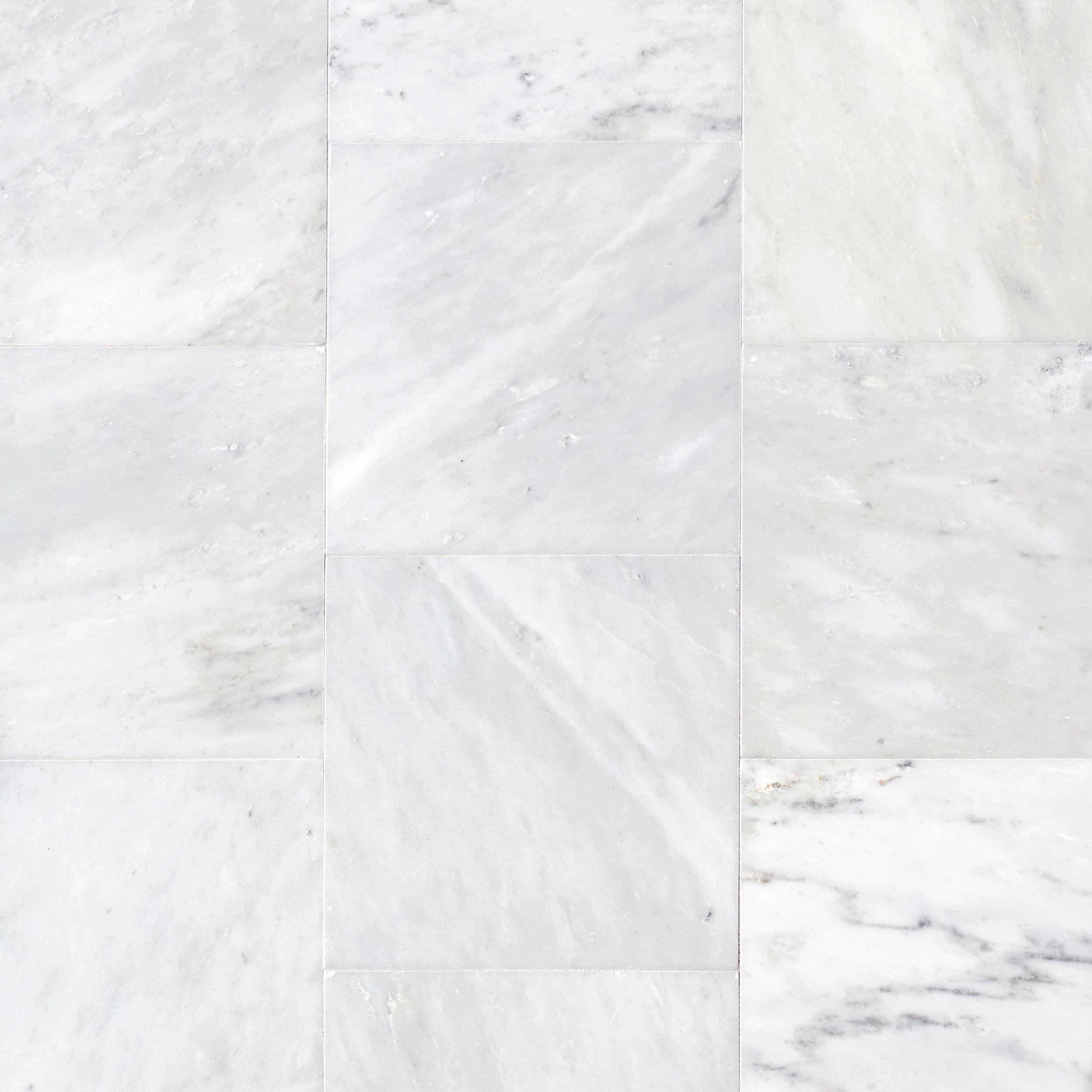 carrara white polished marble tile 12in x 12in floor and decor