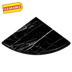 Clearance! Nero Polished Marble Corner Shower Shelf