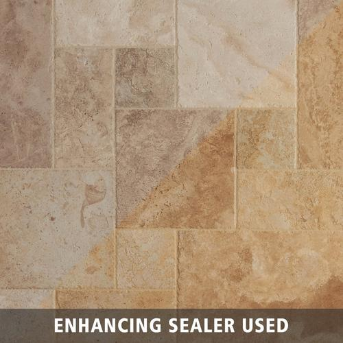 Antique Parma Brushed Travertine Tile 8 X 16 922100861 Floor