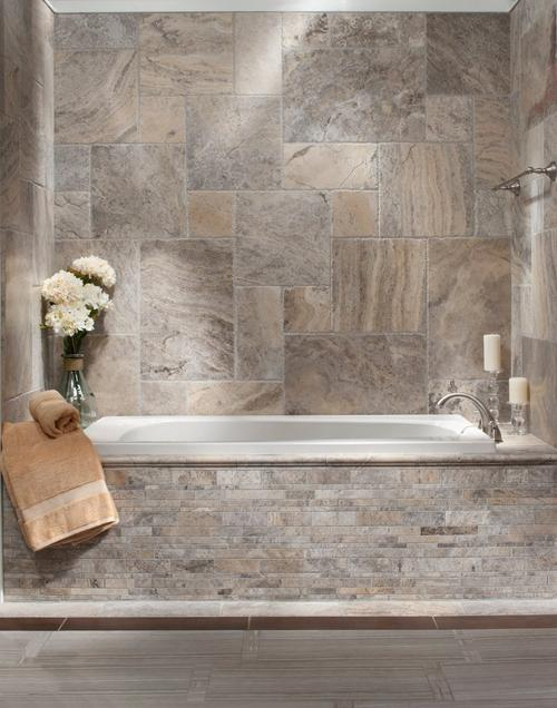 Travertine Tile Pictures argento brushed travertine tile - 16in. x 24in. - 922101295